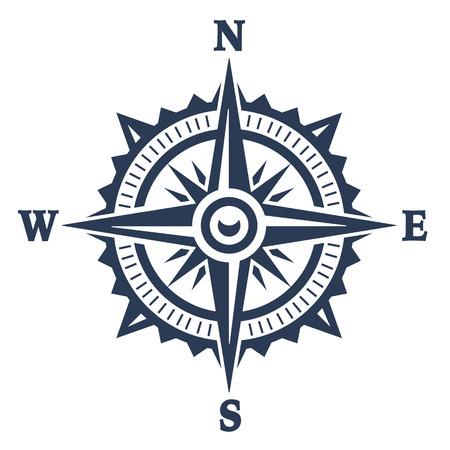 Kompas windroos pictogram geïsoleerd op wit. Vector illustratie.