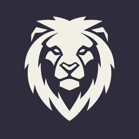 Lion looking danger. Lion head icon. Lion vector logo template. 版權商用圖片 - 112955846