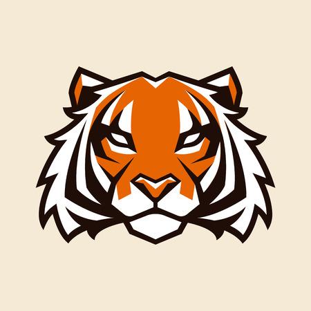 Tiger looking danger. Tiger head icon. Tiger vector logo template. Illustration