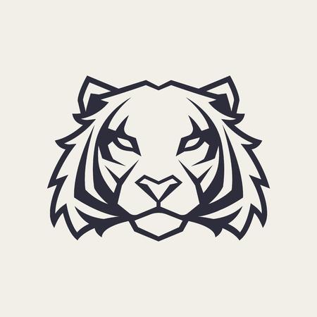 Tiger looking danger. Tiger head icon. Tiger vector logo template. Ilustração