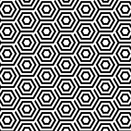 Seamless Pattern with Abstract Hexagons. Vector endless texture.