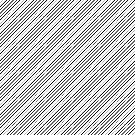 Seamless Pattern with Diagonal Distorted Lines. Vector endless texture.