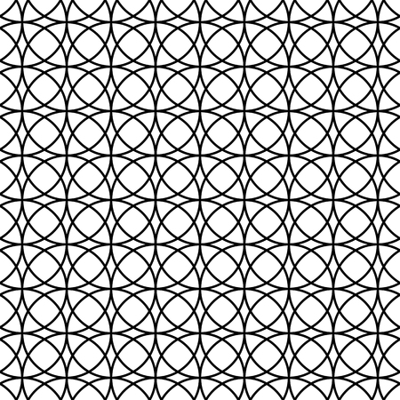 Seamless Abstract Pattern with Circles. Vector endless texture.