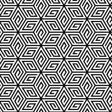 Abstract Geometric Seamless Pattern. Vector endless texture.