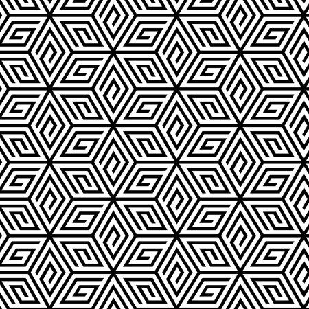 Abstraktes geometrisches nahtloses Muster. Vektor endlose Textur.