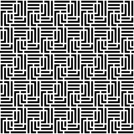 Monochrome Labyrinth Seamless Pattern. Vector endless texture.