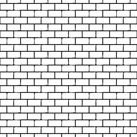 Seamless Monochrome Pattern with Bricks. Vector endless texture. Ilustração