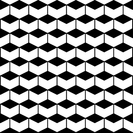 Seamless Pattern with Hexagons. Vector endless texture.