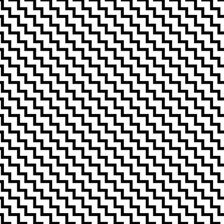 Monochrome Seamless Pattern. Vector endless texture. Ilustracja