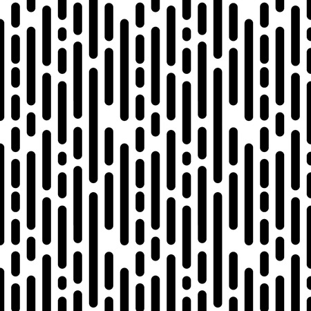 Seamless Pattern with Vertical Black Lines. Vector endless texture.
