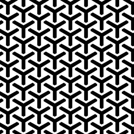 Nahtloses Muster des geometrischen Rasters. Vektor endlose Textur.