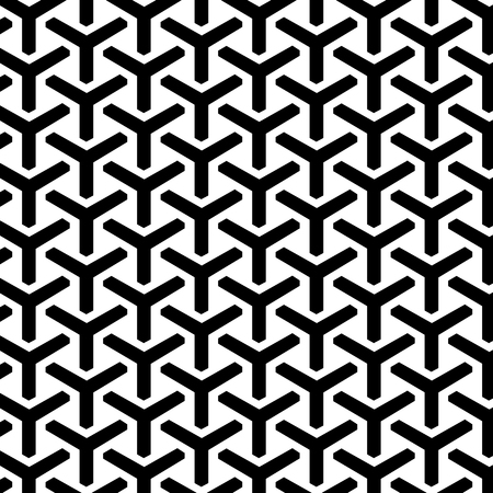 Geometric Grid Seamless Pattern. Vector endless texture.