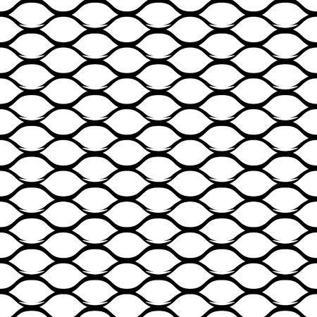Steel Grid Monochrome Seamless Pattern. Vector endless texture.
