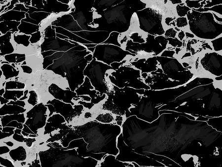 Black Marble Texture Horizontal Vector Background.
