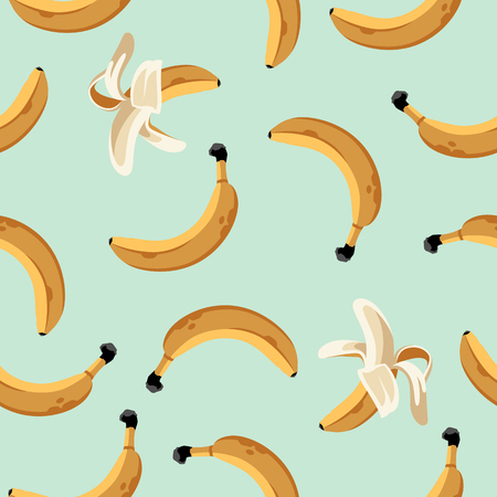 Banana Summer Seamless Pattern. Endless texture with banana fruits.