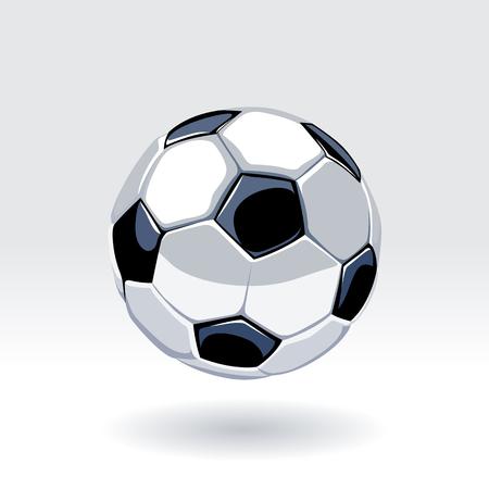 Balón clásico de fútbol europeo. Arte de vector de balón de fútbol.