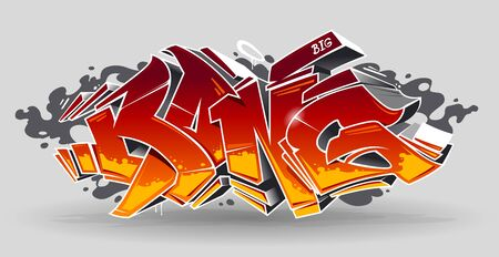 Bang - Wild Style Graffiti 3D Blocks With Red And Yellow