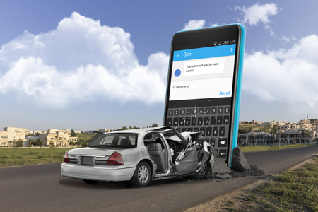 don't text and drive Banque d'images