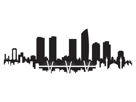 Amman Skyline Silhouette City Vector Design Art 일러스트