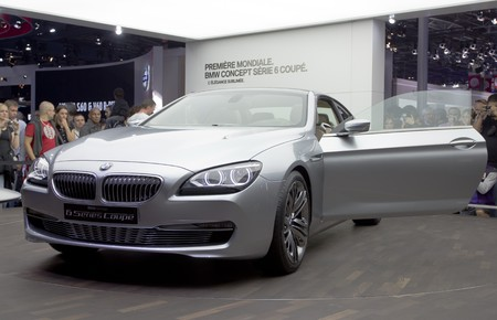 Paris Motor Show 2010 in Paris, showing BMW serie 6, first time show on in the world.