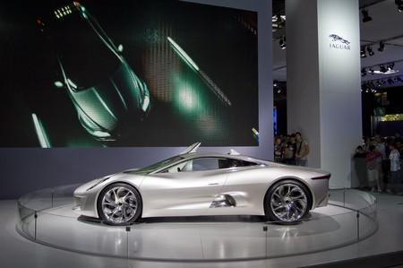 Jaguar new concept car CX-75 at PAris auto show 2010