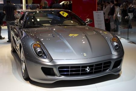 Paris Motor Show 2010 in Paris, showing Ferrari Fiorano 599 GTB