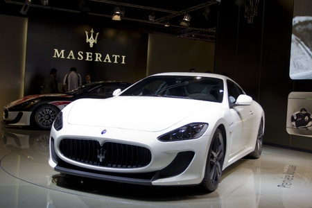 Paris Motor Show 2010 in Paris, showing Maserati GranTurismo MC Stradale Stock Photo - 8322105