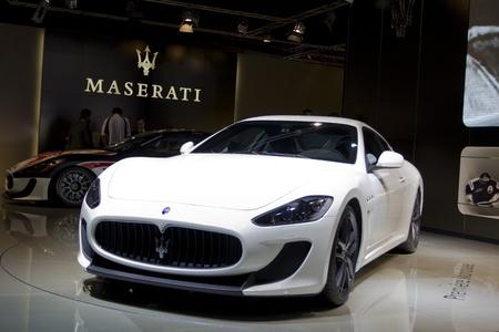mc: Paris Motor Show 2010 in Paris, showing Maserati GranTurismo MC Stradale