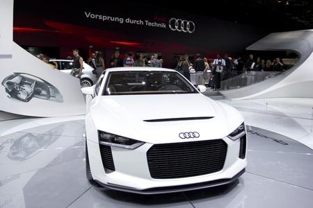 Paris Motor Show 2010 In Paris Showing Audi Quattro Concept Stock