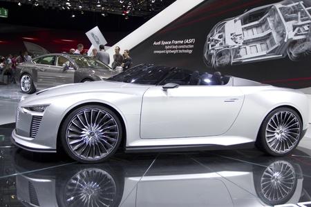 Paris Motor Show 2010 in Paris, showing Audi e-tron Spyder