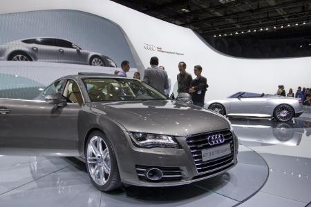 Paris Motor Show 2010 in Paris, showing Audi A7 3.0 TDI Quattro