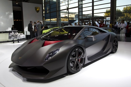 elite: Paris Motor Show 2010 in Paris, showing Lamborghini Sesto Elemento, limited edition, 12 cars in the world