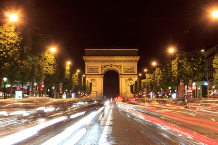Champs Elysees in Paris, France