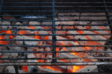 flame grill for roast meat or pork or barbecue photo
