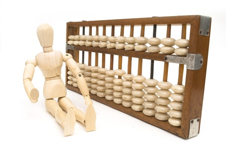 old chinese abacus isolate on white background Stock Photo - 10714593