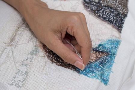 Cross stitch Handcrafts Stock Photo - 22299915