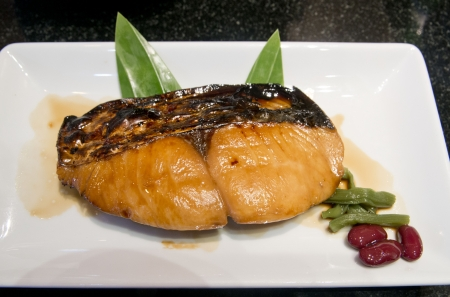 saba: Saba fish, grilled fish with soy sauce Stock Photo