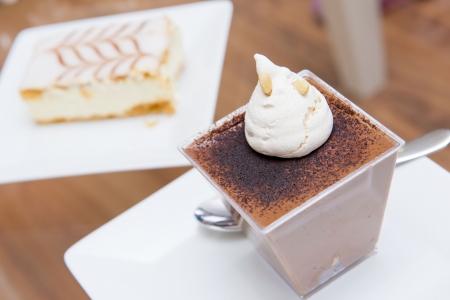 chocolade mousse: Chocolademousse taart, lekkere bakkerij