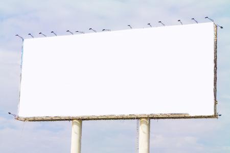 白色空白大BILLBORAD為做廣告鎮