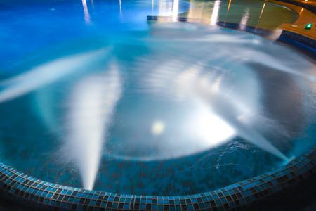 swimming pool home: bath tub in blue swimming pool, home Stock Photo