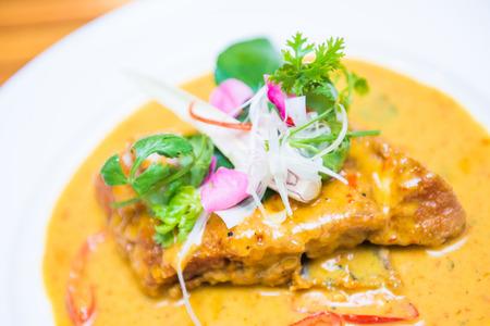 pla: Choo Chee Pla Fish in Thai Red Curry Sauce Recipe, Thai food