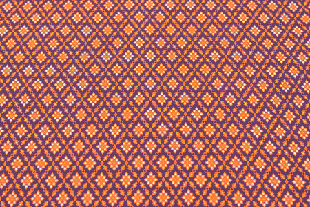 orenge: beautiful texture of thai silk, thai pattern Stock Photo