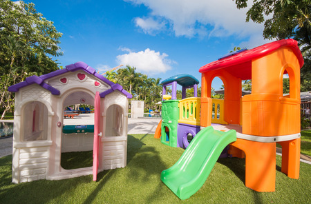 orenge: colorful playground for kid, garden