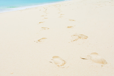 footmark: footmark on the beautiful beach, relax