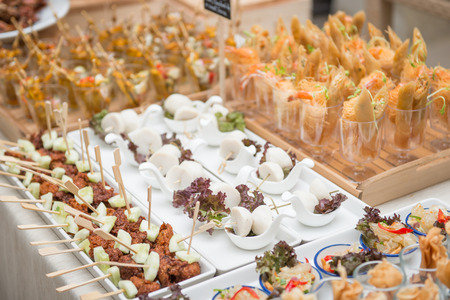 catering services on table at wedding party, food 版權商用圖片