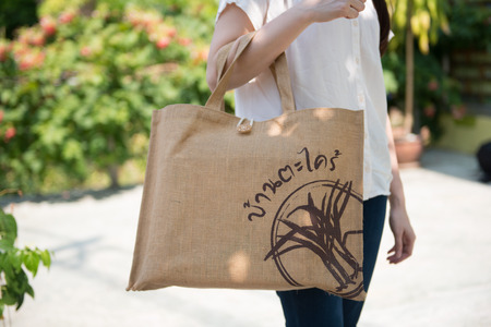 reduce: bags to reduce global warming, shopping Stock Photo