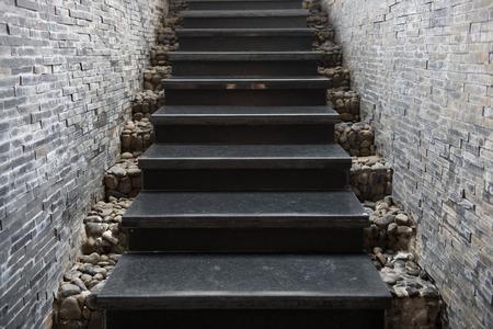大理石樓梯石頭牆,建築