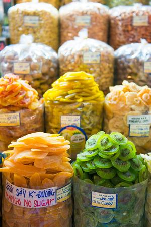 dry fruit: HOJIMIN City, Vietnam Mar 17: dry fruit at Ben Thann Market in Hojimin City on March 17, 2014 Vietnam