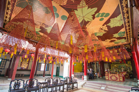 hoi an: Hoi An - Vietnam Mar 16 :  Phuc Kien Assembly Hall in Hoi An ancient town on Mar 16, 2015 Vietnam