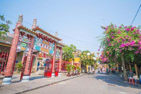 three wheeler: Hoi An - Vietnam Mar 16 :  nice town beautiful architecture at Hoi An ancient town on Mar 16, 2015 Vietnam